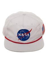 Official NASA Logo - Buzz Aldrin Space Suit White Nylon Slouch Snapback Cap