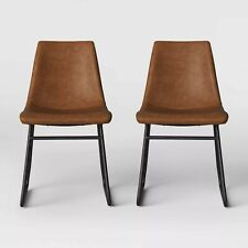 2pk Bowden Faux Leather and Metal Dining Chair - Project 62