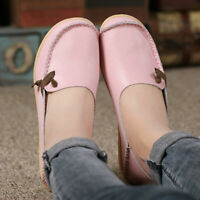 Women's Leather Ballet Shoes Casual Flats Loafers Soft Peas Driving Moccasins