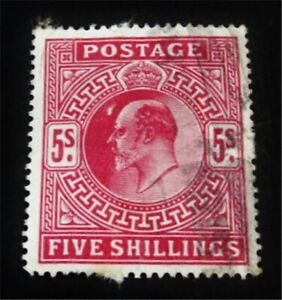 nystamps Great Britain Stamp # 140 Used $225 J15y1774
