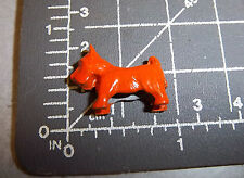 Vintage Cracker Jack Charm - Orange Scotty Dog - w Display box great collectible