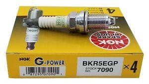 4 Plugs NGK SPARK PLUGS BKR5EGP/7090 G-Power Platinum