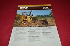 Fiat Allis Chalmers FD7 Crawler Tractor Dealer's Brochure YABE18