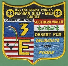 CVN-65 USS ENTERPRISE OPERATION SOUTHERN WATCH 98-99 PERSIAN GULF CRUISE PATCH