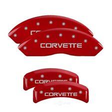MGP 4 Caliper Covers Gloss Red Engraved For 1988-1996 Chevrolet Corvette C4