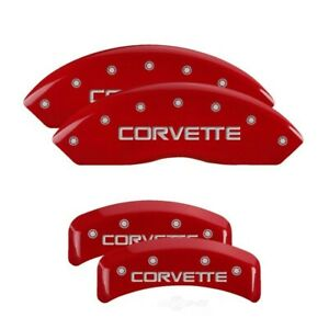MGP 4 Caliper Covers Gloss Red Engraved For 1988-1996 Chevrolet Corvette C4