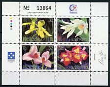 Micronesia 1995 MNH Orchids Singapore'95 4v M/S Orchid Flowers Nature Stamps