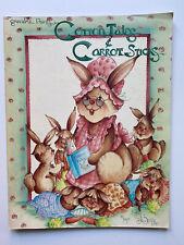 Jo sonja's Cotton Tales & Carrot Sticks Decorative Painting Book 1985 Vintage