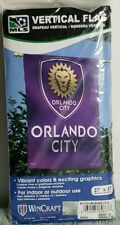 "Orlando City Soccer Team Vertical Flag MLS 27"" x 37"" (68.5cm x 93.98cm)"