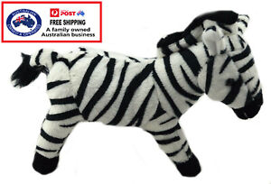 1 X PLUSH ZEBRA 18.5CM teddy gift soft toy stuffed animal bedtime African zoo