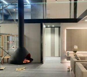 Modern Hanging Ceiling Mounted Fireplace