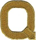 """1 7/8"""" Gold Monogram Block letter Q Embroidery Patch"""