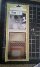 Close Knit package photo overlays Crate paper Clear patterened - New in package
