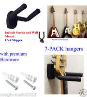 LOT of 7 Guitar Wall Hangers/Holders/Stands/Racks/Hooks, fits most Guitars, GRAK