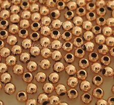 100x 2mm 14k ROSE gold filled round seamless bead spacer high polish shiny RB02
