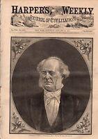1877 Harpers Weekly January 20-Vanderbilt;Ashtabula Ohio bridge disaster;Turkey