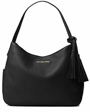 NWT Michael Kors Ashbury Large Pebble Leather Shoulder Hobo Hand Bag Black New