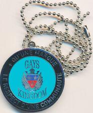 GAYS KINGDOM, Respect d'une communauté, médaille argent bleue (LR.Paris) (7743)
