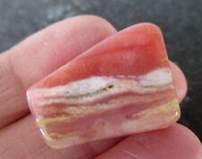ANDEAN PINK OPAL (4.9 grams / 26 mm) MINI SLICE OR TUMBLESTONE (24) 'LOVE'