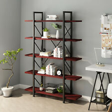 Yitahome 5 Tier Bookcase Bookshelf Heavy Duty Metal Ladder Shelf Storage Shelves