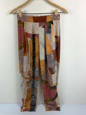 Sheike Womens Retro Pattern Long Pants Size 6 Style '29371' Multicoloured