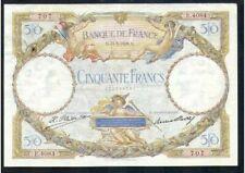 Billets de la banque française 50 francs sur Luc Olivier Merson