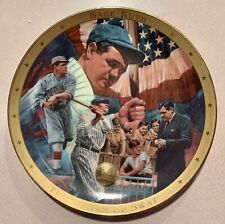 Franklin Mint Legendary Babe Ruth Collector Plate- Royal Doulton - With Coa