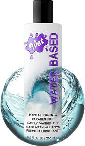 Wet Original Water Based Lube, 9 Oz Bottle Premium Personal Lubricant