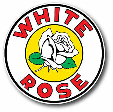 WHITE ROSE GASOLINE OIL SUPER HIGH GLOSS OUTDOOR 4 INCH DECAL STICKER