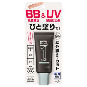 Men's Biore ONE BB & UV Cream SPF50+ Color Correcting Tinted Sunscreen JAPAN