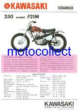 KAWASAKI F21M...Vintage Poster Print...Free Postage Worldwide
