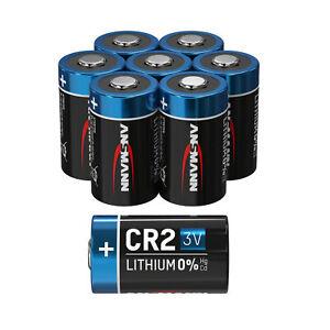 ANSMANN CR2 3V Lithium Batterie – 8er Pack CR2 Batterien –  Einwegbatterie