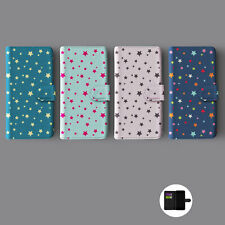 STARS SKY COLOURFUL LEATHER WALLET PHONE CASE FOR IPHONE