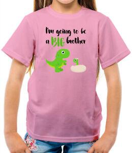 Big Brother Dinosaur - Kids T-Shirt - Sibling - Family - Older Bro - New Baby