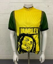 Ride 7b Bob Marley Roots Reggae Rebel Music 3/4-Zip Cycling Bike Jersey L NEW