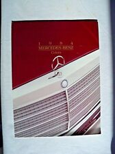 1984 Mercedes 380SL Owners sales brochure Paint color Chart w107 w126  w123