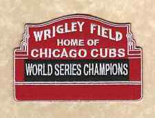 🔥 CHICAGO CUBS 2016 World Series Champions Wrigley Field MARQUEE Iron-on PATCH!