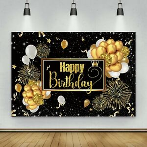 Happy Birthday Backdrop Banner Background Cloth Photo Props Party Decoration New