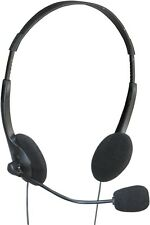 Adjustable Stereo Multimedia Computer Headphones with Mic and Extended 2.5m Lead