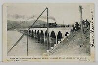 Harrisburg Pa First Train Crossing Rockville Stone Bridge 1905 Postcard N5
