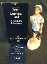 """Bing and Grondahl Figurine of the Year  """"Peter"""" 1984 - Rare w/ COA and Box"""