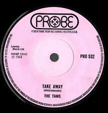 The Tams Take Away   Northern soul Popcorn EX