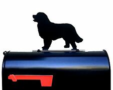 Bernese Mountain Dog Silhouette Mailbox Topper / Sign - Powder Coated Steel