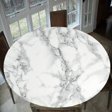 "Round 1.2M/47"" Elegant Table Cover Tablecloth Marble Pattern Indoor/Outdoor"