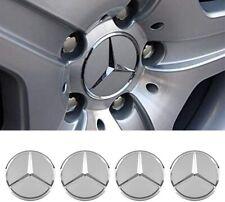 4pcs Wheel Center Caps Fit For Mercedes Benz Emblem Logo 75mm Wheel Rim Hub Cap