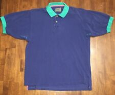 Jeep Mens Polo Short Sleeve Shirt. Blue/Teal/Pink. In Used Condition