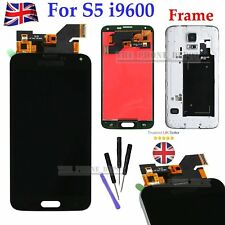 For Samsung Galaxy S5 G900F i9600 LCD Screen Digitizer Touch Display Frame Black