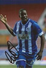 WIGAN: LEON BARNETT SIGNED 6x4 ACTION PHOTO+COA