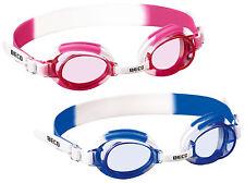BECO Kinder-Schwimmbrille Halifax weiß-pink / weiß-blau  NEU/OVP Taucherbrille