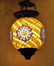 Indian Ceiling Lamp Light Shade Bar Cafe Glass Globe Swag Pendant Hanging Lamps